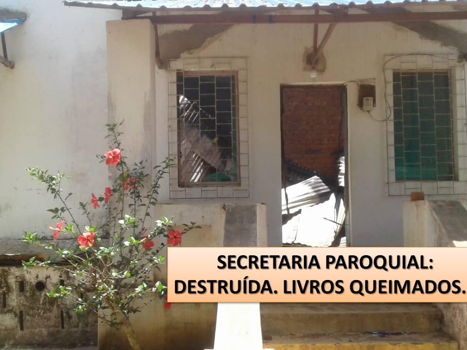 Missão de Nangololo totalmente destruída