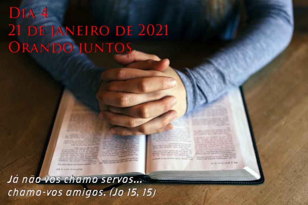 """Semana de Oração pela Unidade dos Cristão. DIA 4 -Orando juntos: """"Já não vos chamo servos... chamo-vos amigos"""" (João 15,15)."""