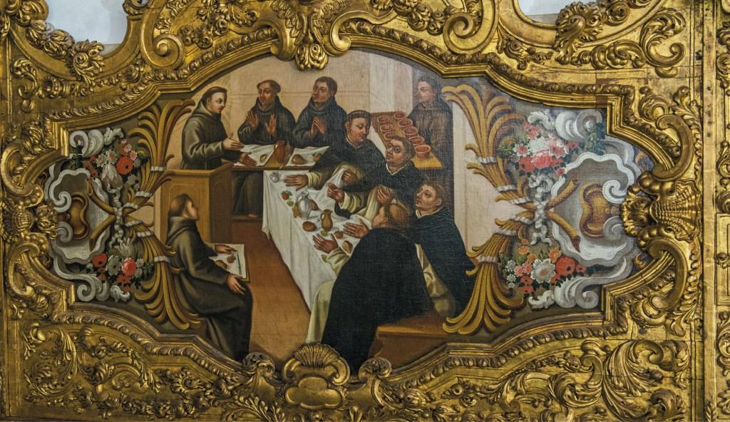 Santo António servindo à mesa em Montepaolo. Sacristia da Igreja de Santo António dos Olivais, Coimbra. Foto Babo Ribeiro, 2013 | Arquivo MSA.