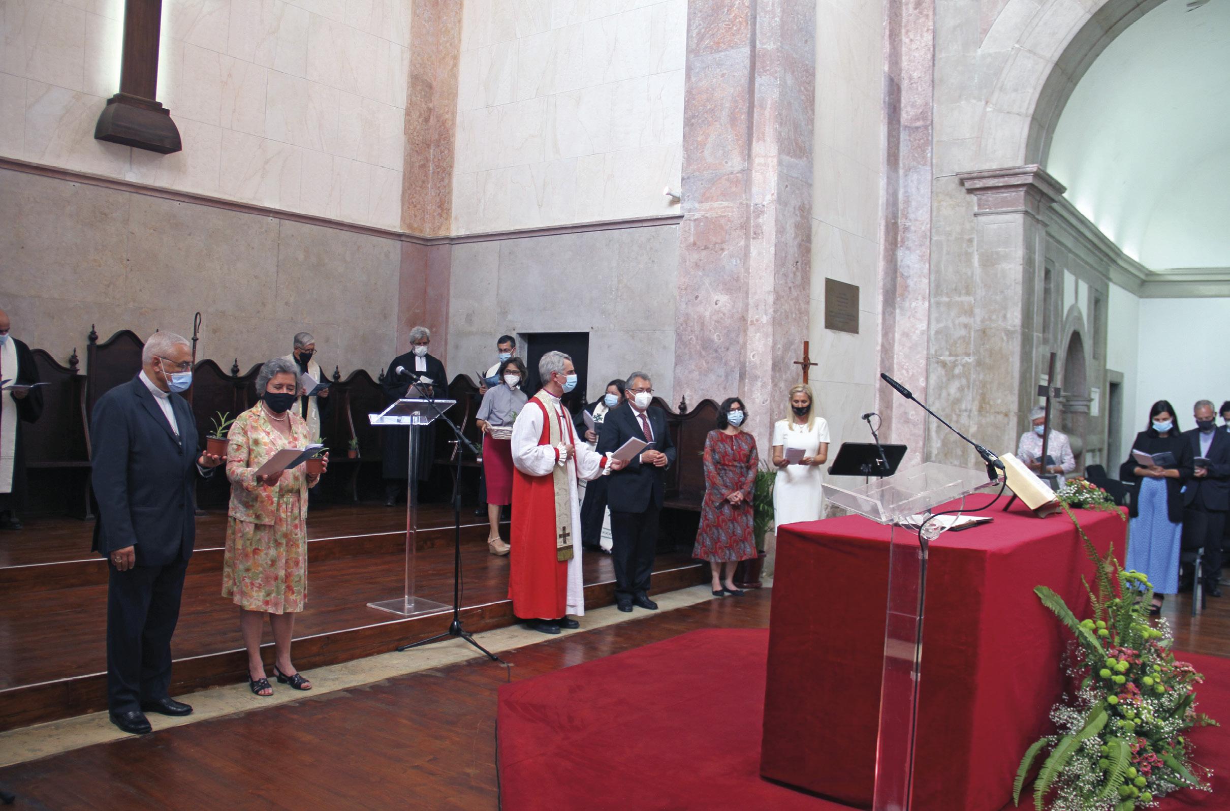 Assinatura do Memorando de Entendimento para o desenvolvimento e concretização do Programa Eco Igrejas Portugal, 12 de junho de 2021. Fotos Agência Ecclesia.