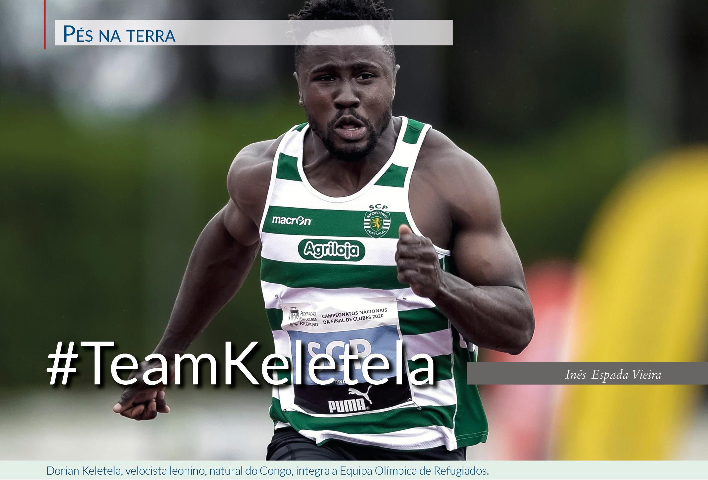 Dorian Keletela, velocista leonino, natural do Congo, integra a Equipa Olímpica de Refugiados.