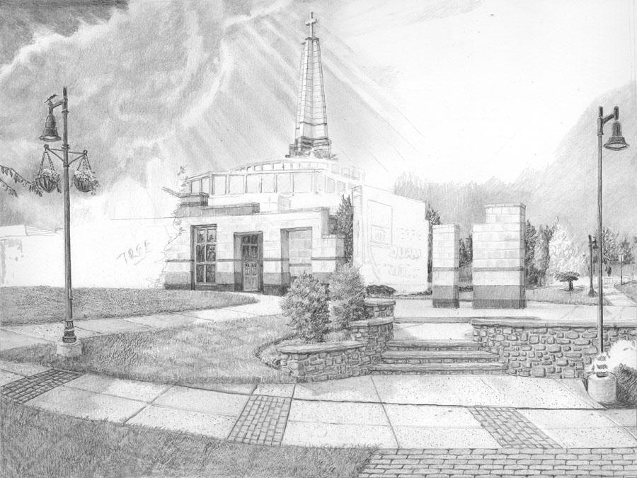 Episcopal Academy Pencil Drawing in Progress 04