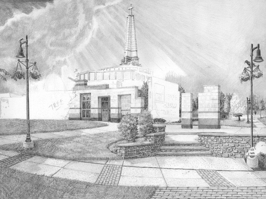 Episcopal Academy Pencil Drawing in Progress 05