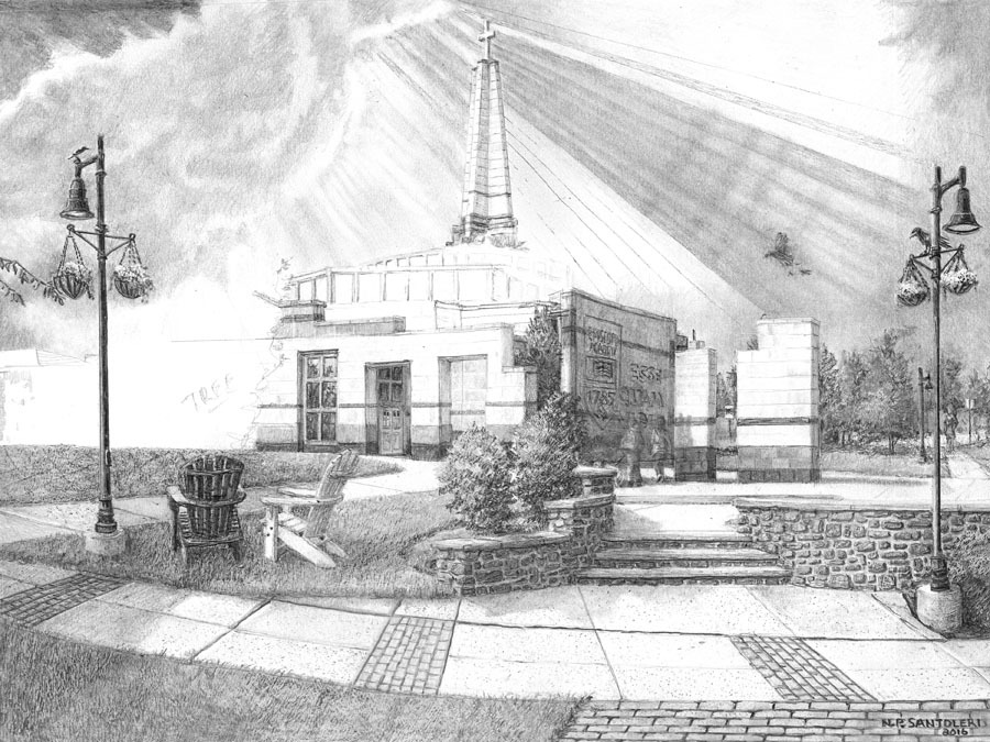 Episcopal Academy Pencil Drawing in Progress 07