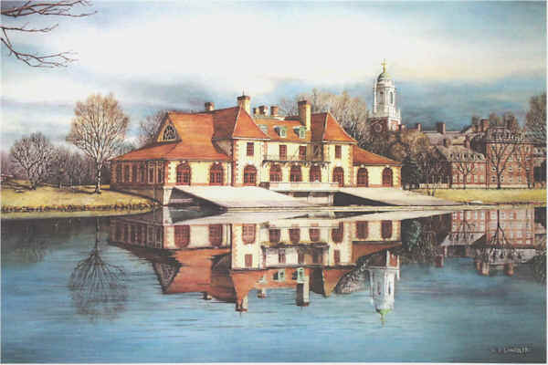 University Art Prints Harvards boathouse Santoleri