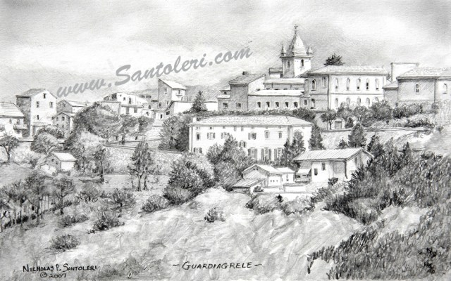 Prints of Guardiagrele, Italy pencil drawing by Santoleri