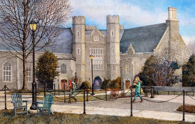 University Art Prints West Chester University by Nicholas Santoleri