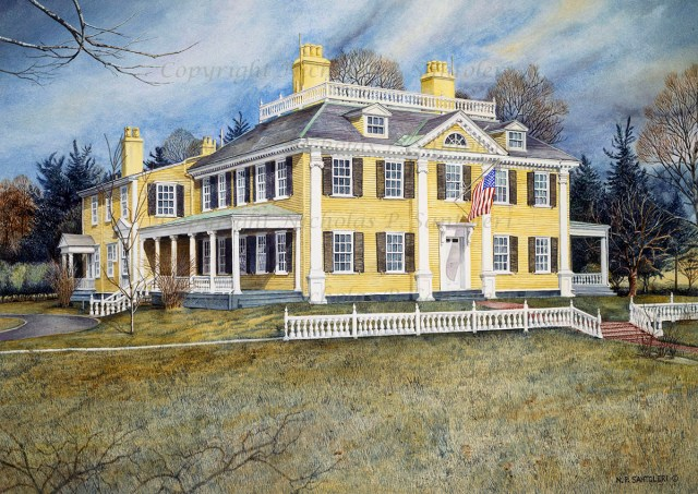 Longfellow's House by Nicholas Santoleri