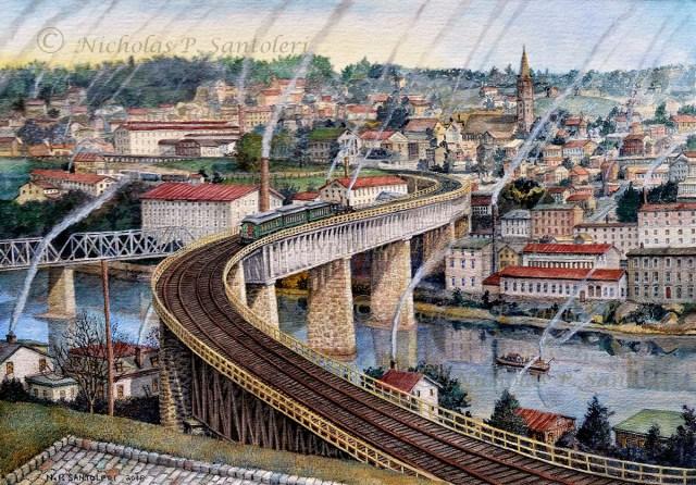 The S Bridge (Manayunk Circa 1918) by Nicholas Santoleri