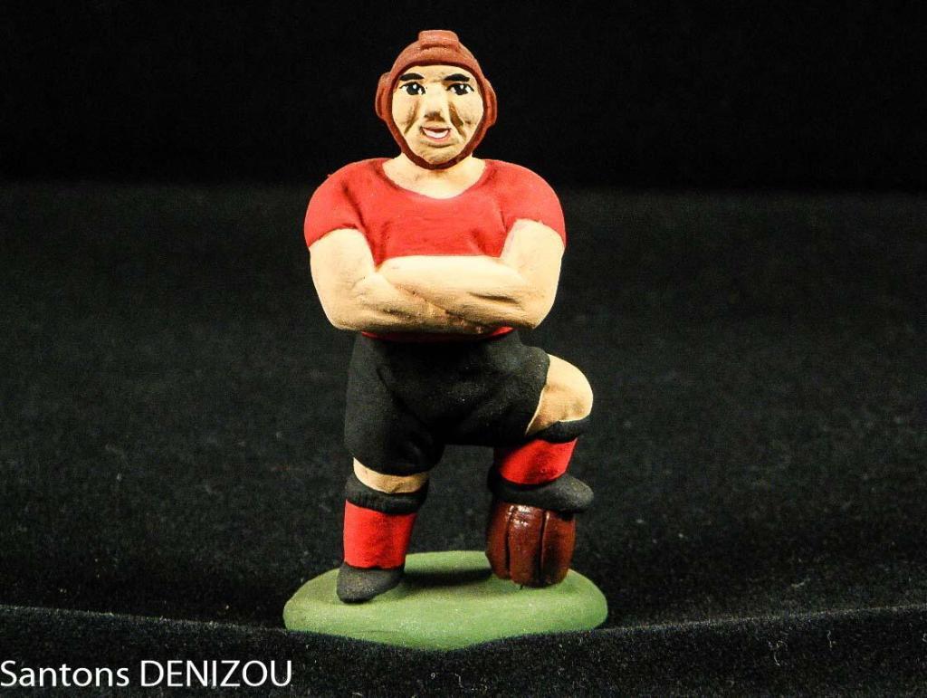 Santon de rugbyman de 7cm