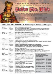 2011 Novena Schedule