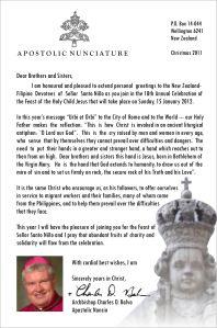 Sinulog 2012 Message from Apostolic Nuncio Archbishop Charles Balvo