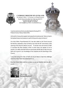 Sinulog 2013 Message from Bishop Patrick Dunn