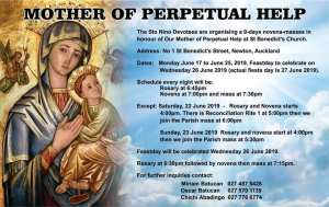 9 Days Novena for Our Mother of Perpetual Help @ St. Benedict's Church