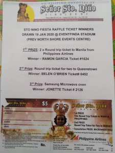 Sinulog NZ 2020 Raffle Results