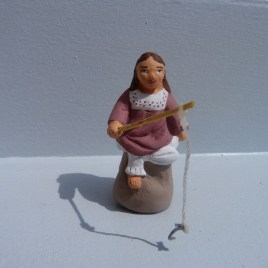 Petite fille qui pêche
