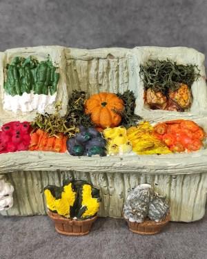 étal des fruits et légumes santons de provence