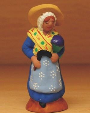 Femme à la lavande santons de provence