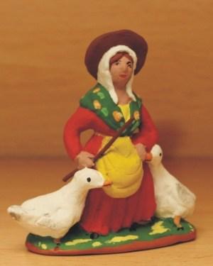 Gardeuse d'oie santons Volpes