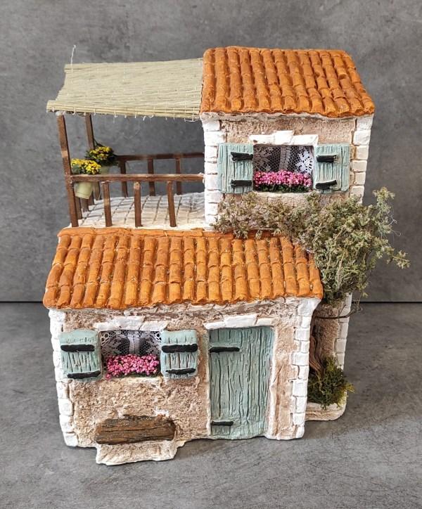 Maison avec terrasse bleu santons de provence