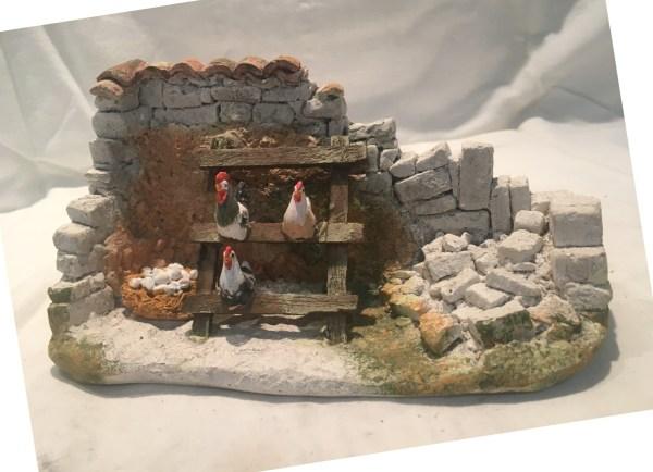 Poulailler santons de provence