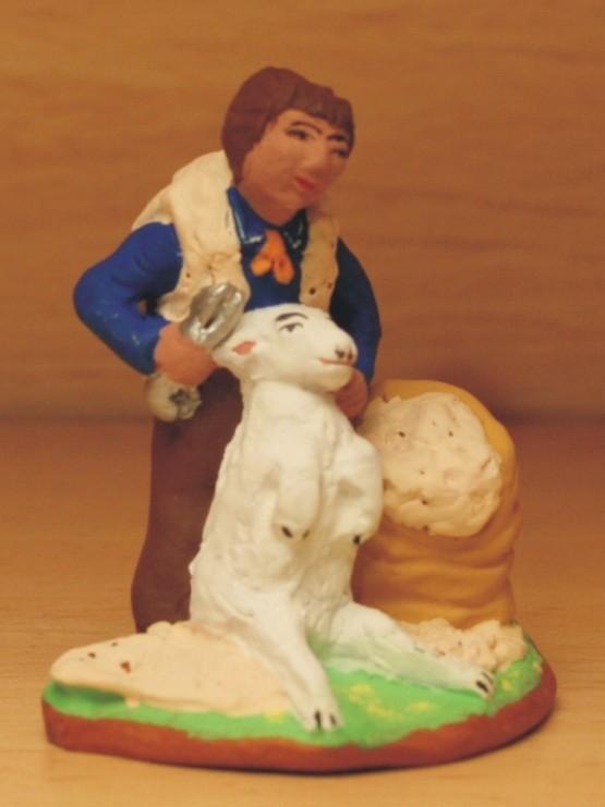 Tondeur de moutons santons de provence