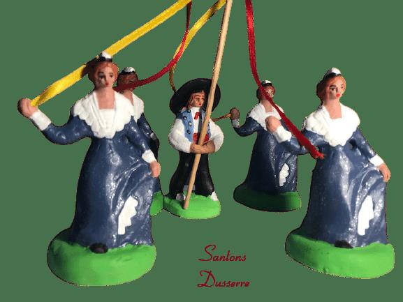 Arlésien au bâton santons Dusserre