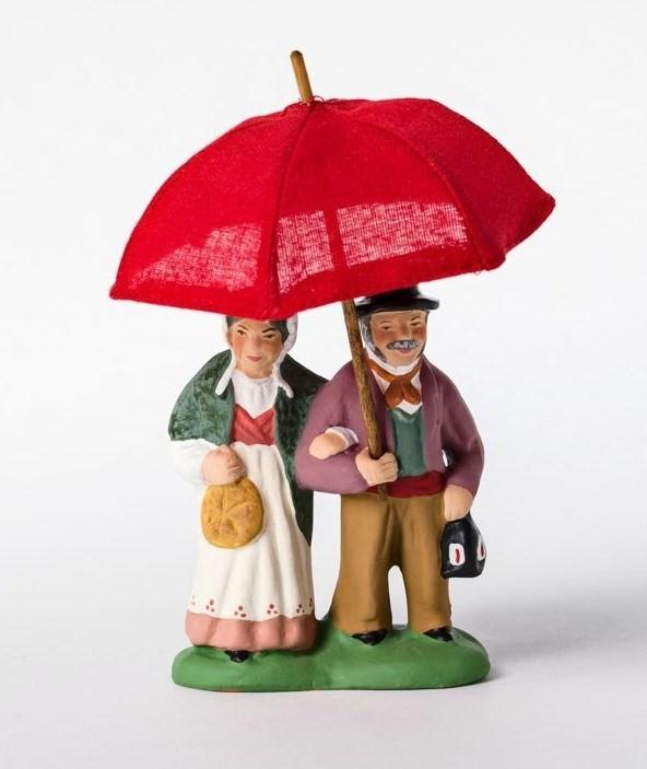 Couple au parapluie santons Campana