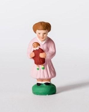 Fillette à la poupée santons Campana