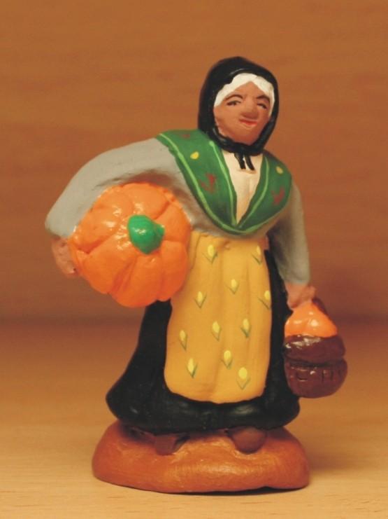 Femme à la courge santons Volpes