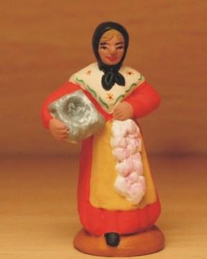 Femme à l'aïoli santons Volpes