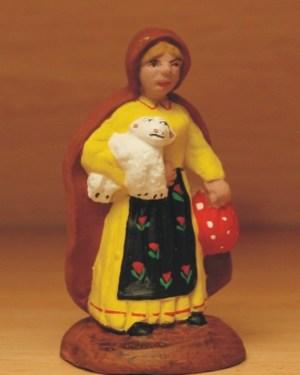 Jeune bergère santons Volpes