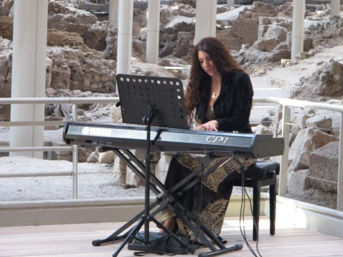 Pianist at Akrotiri
