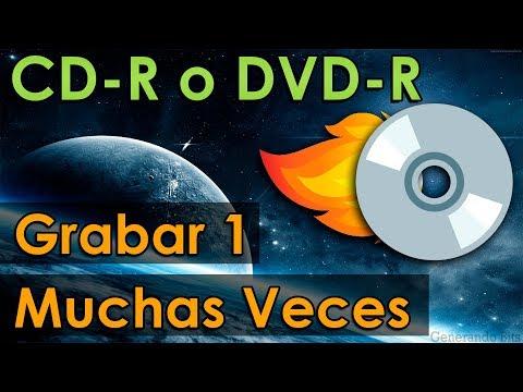 Grabar y quemar el mismo CD o DVD varias veces como disco regrabable