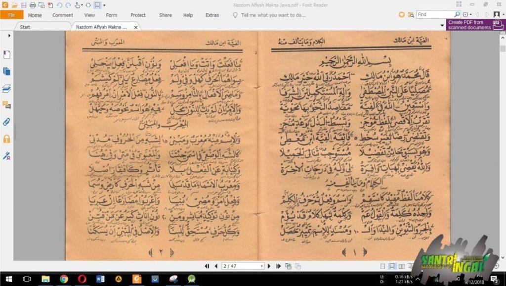 Download Kitab Nadhom Alfiyah Ibnu Malik Full Tafsahan Pegon Jawa pdf