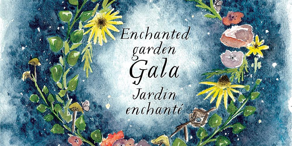 Official Invitation To Enchanted Garden Gala Santropol