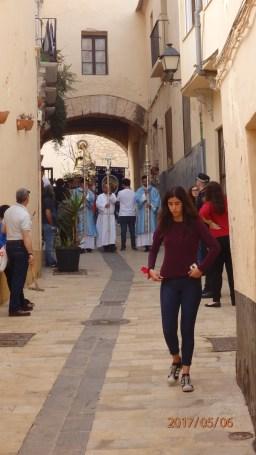 La Divina Pastora en calle San Miguel