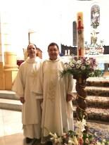 Vicario episcopal Roberto Rojo y diácono