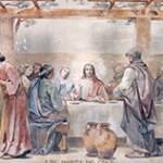 Imagen de la Santa Cena en el Real Santuario de San José de la Montaña, Barcelona