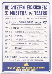 Cartel festival teatro 1981