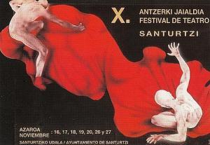 Cartel festival teatro 1988