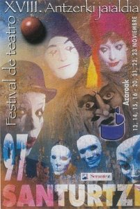 Cartel festival teatro 1997