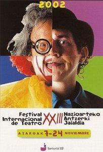Cartel festival teatro 2002