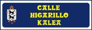 Calle Higarillo (no hay placa)