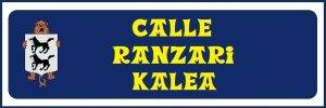 Calle Ranzari (no hay placa)