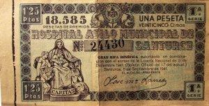 Billete rifa septiembre 1941