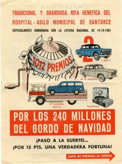 cartel rifa 1961