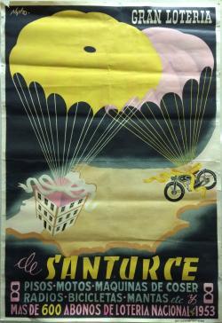 Cartel rifa enero 1953