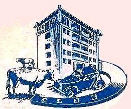 Casa de la rifa según anuncio 1947