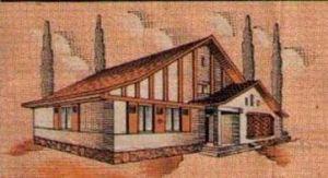 Casa de la rifa según anuncio 1950